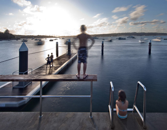Kieran McInerney Architect :: Watsons Bay Baths :: short-listed 2011 AIA awards d-Construct Architects Jensen Young Architects Watsons Bay Baths world's first wheelchair access tidal sea pool access ramp pontoon disabilities water confidence depth of water tidal situation
