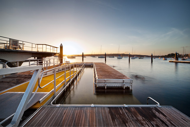 Kieran McInerney Architect:: Watsons Bays Bath :: short-listed 2011 AIA awards d-Construct Architects Jensen Young Architects Watsons Bay Baths world's first wheelchair access tidal sea pool access ramp pontoon disabilities water confidence depth of water tidal situation